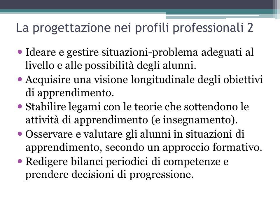 La progettazione nei profili professionali 2