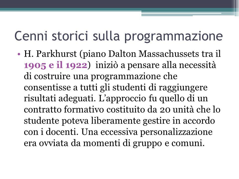 Cenni storici sulla programmazione