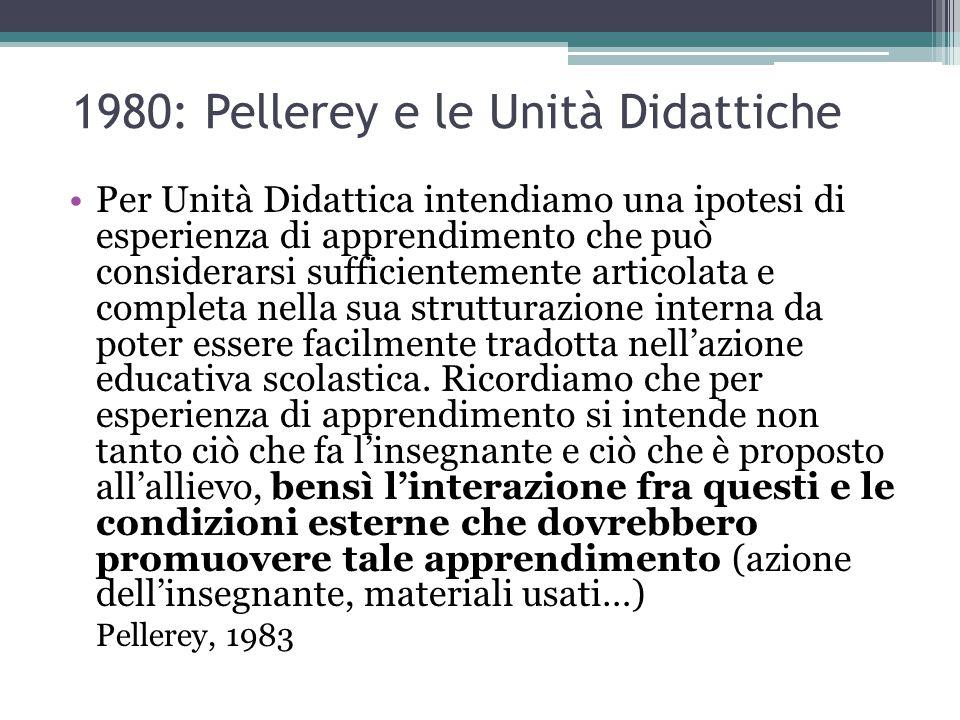 1980: Pellerey e le Unità Didattiche