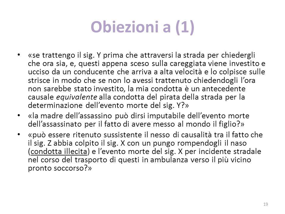 Obiezioni a (1)
