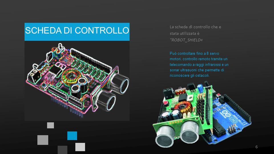 La scheda di controllo che e stata utilizzata è ROBOT_SHIELD«