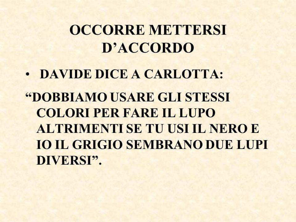 OCCORRE METTERSI D'ACCORDO