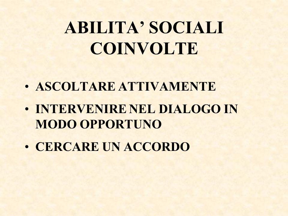 ABILITA' SOCIALI COINVOLTE