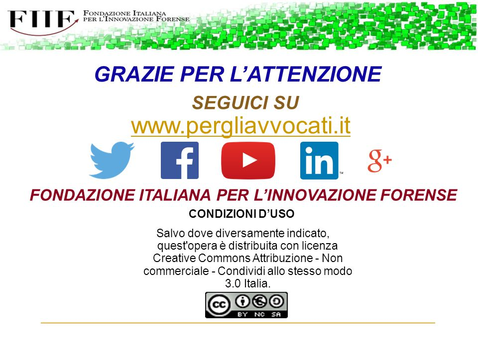 www.pergliavvocati.it GRAZIE PER L'ATTENZIONE SEGUICI SU
