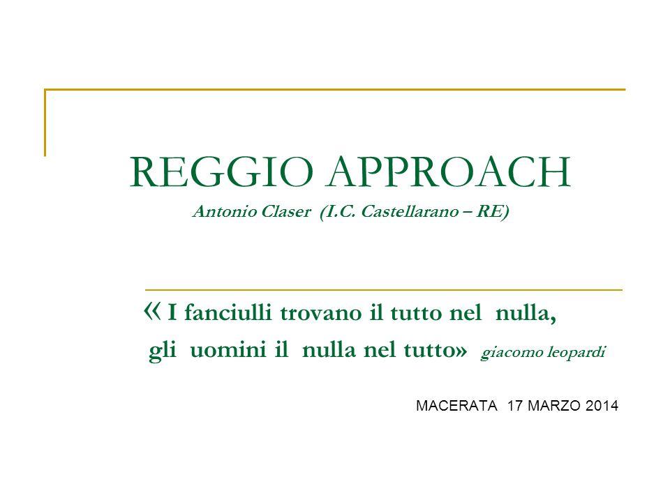REGGIO APPROACH Antonio Claser (I. C
