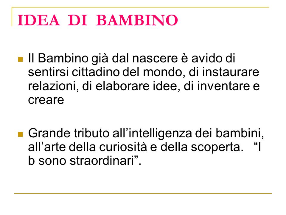 IDEA DI BAMBINO