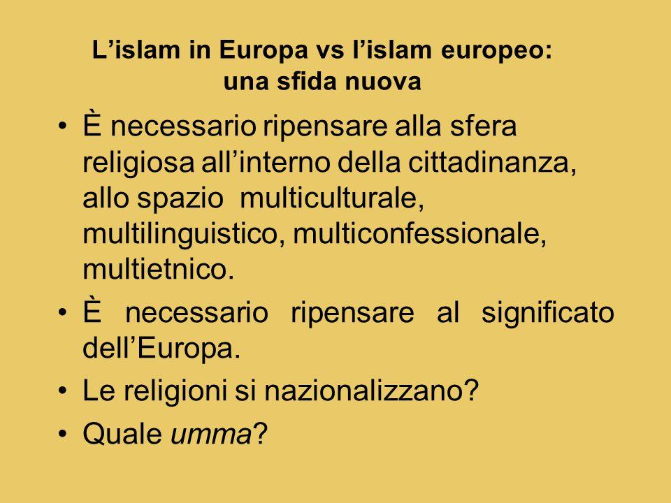 L'islam in Europa vs l'islam europeo: una sfida nuova