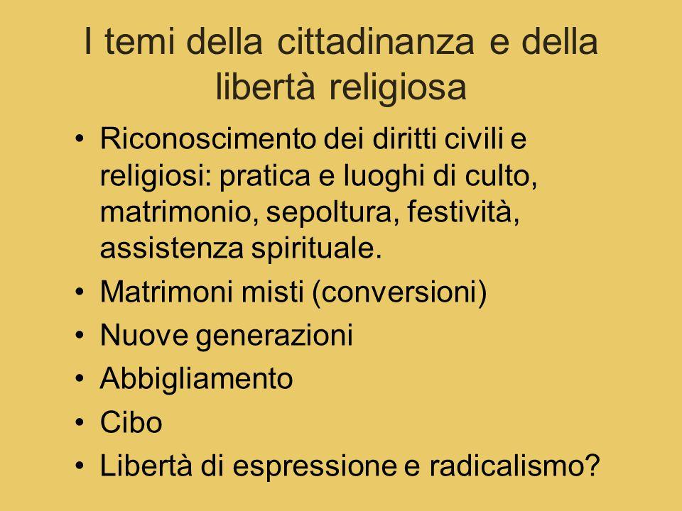 I temi della cittadinanza e della libertà religiosa