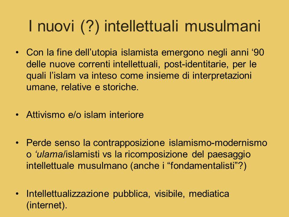 I nuovi ( ) intellettuali musulmani