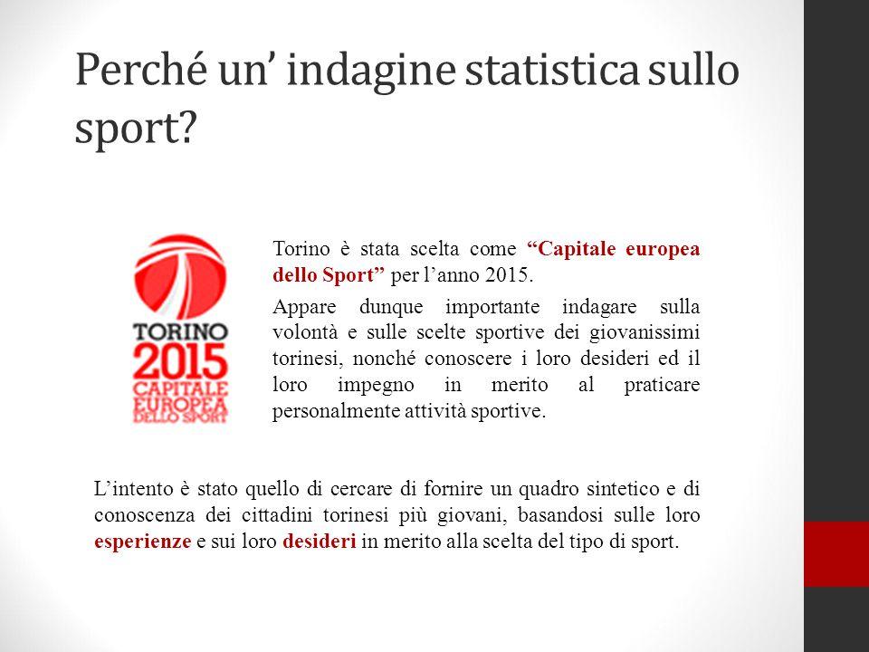 Perché un' indagine statistica sullo sport
