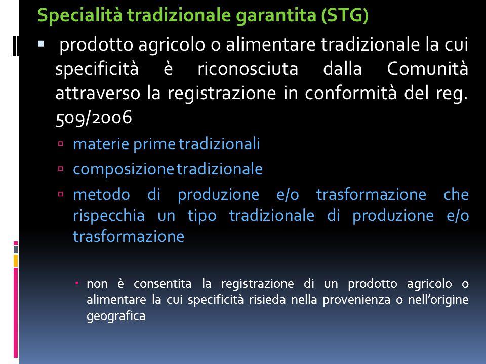 Specialità tradizionale garantita (STG)