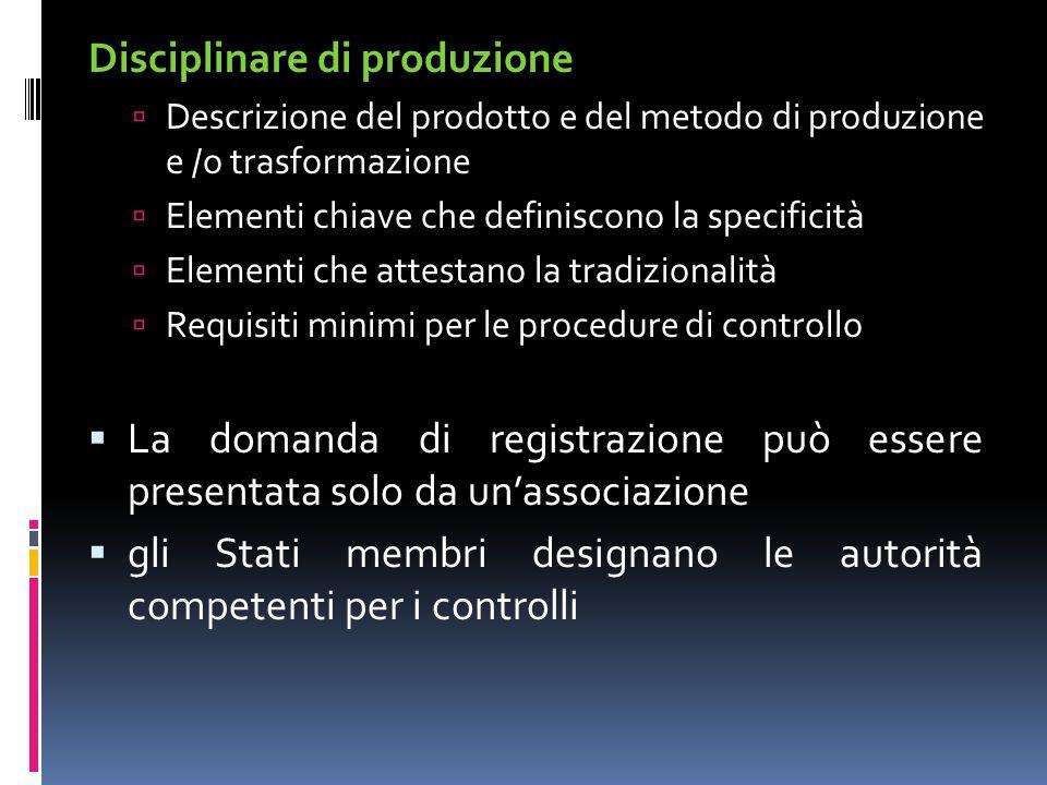 Disciplinare di produzione