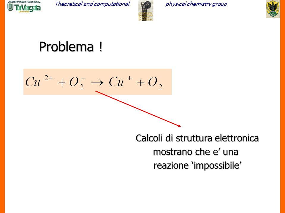 Problema ! Calcoli di struttura elettronica mostrano che e' una