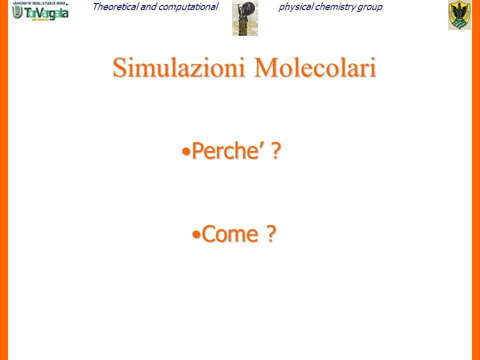 Simulazioni Molecolari
