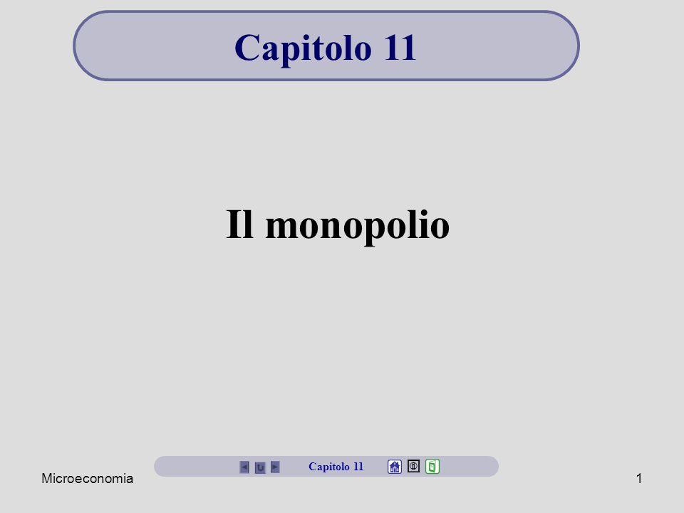 Capitolo 11 Il monopolio Capitolo 11 Microeconomia