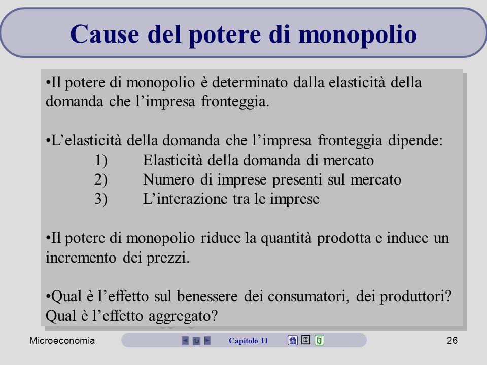 Cause del potere di monopolio