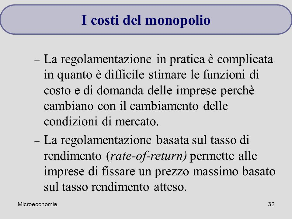 I costi del monopolio