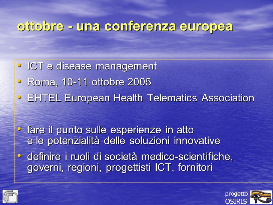 ottobre - una conferenza europea