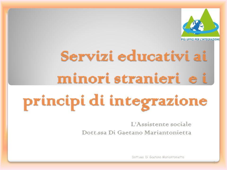 Servizi educativi ai minori stranieri e i principi di integrazione