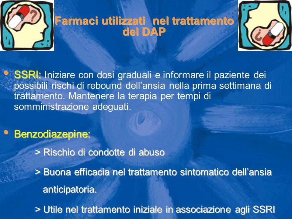 Farmaci utilizzati nel trattamento del DAP