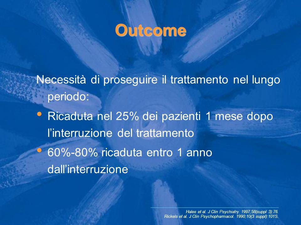 Outcome Necessità di proseguire il trattamento nel lungo periodo: