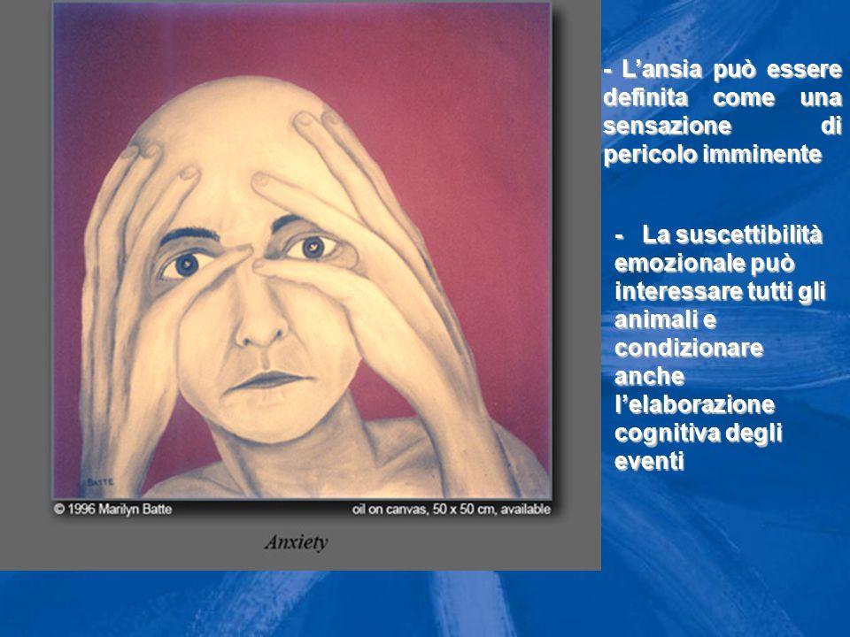 Ansia: definizione - L'ansia può essere definita come una sensazione di pericolo imminente.