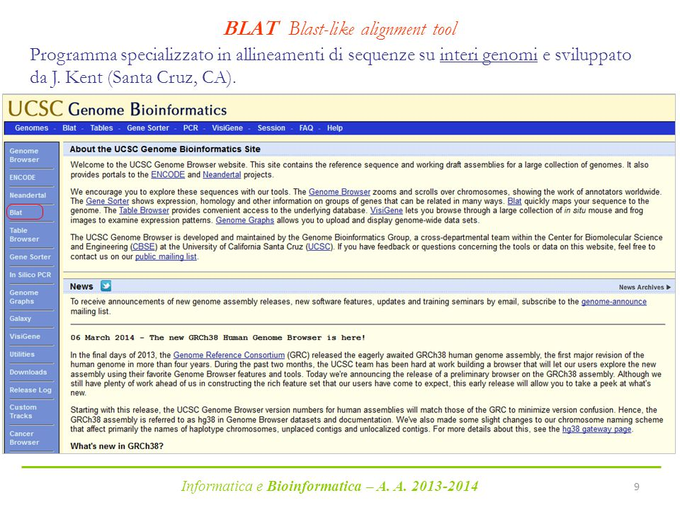 BLAT Blast-like alignment tool