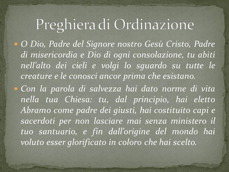 Preghiera di Ordinazione