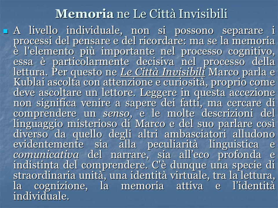 Memoria ne Le Città Invisibili