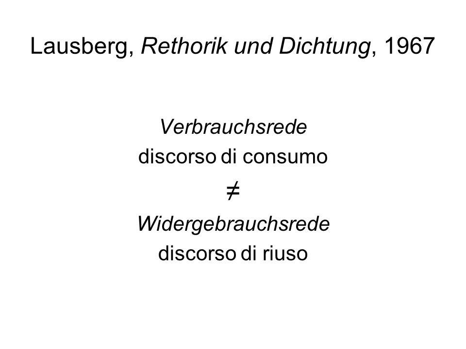 Lausberg, Rethorik und Dichtung, 1967