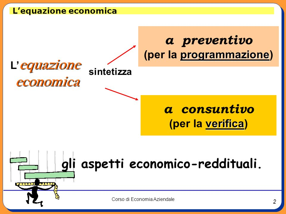 (per la programmazione) gli aspetti economico-reddituali.