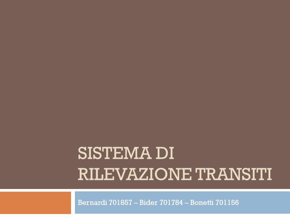 Sistema di rilevazione transiti