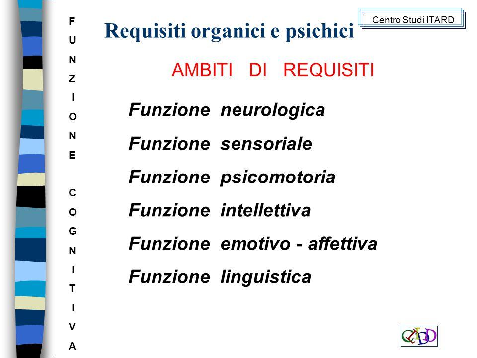 Requisiti organici e psichici