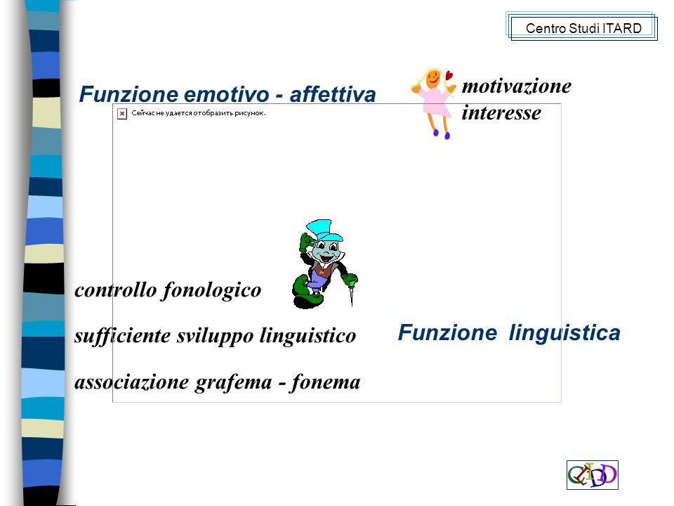 Funzione emotivo - affettiva