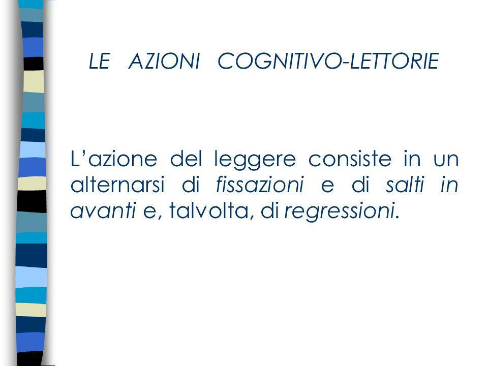 LE AZIONI COGNITIVO-LETTORIE