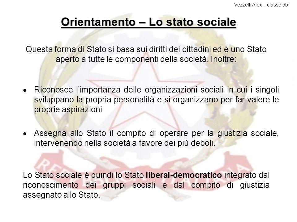 Orientamento – Lo stato sociale