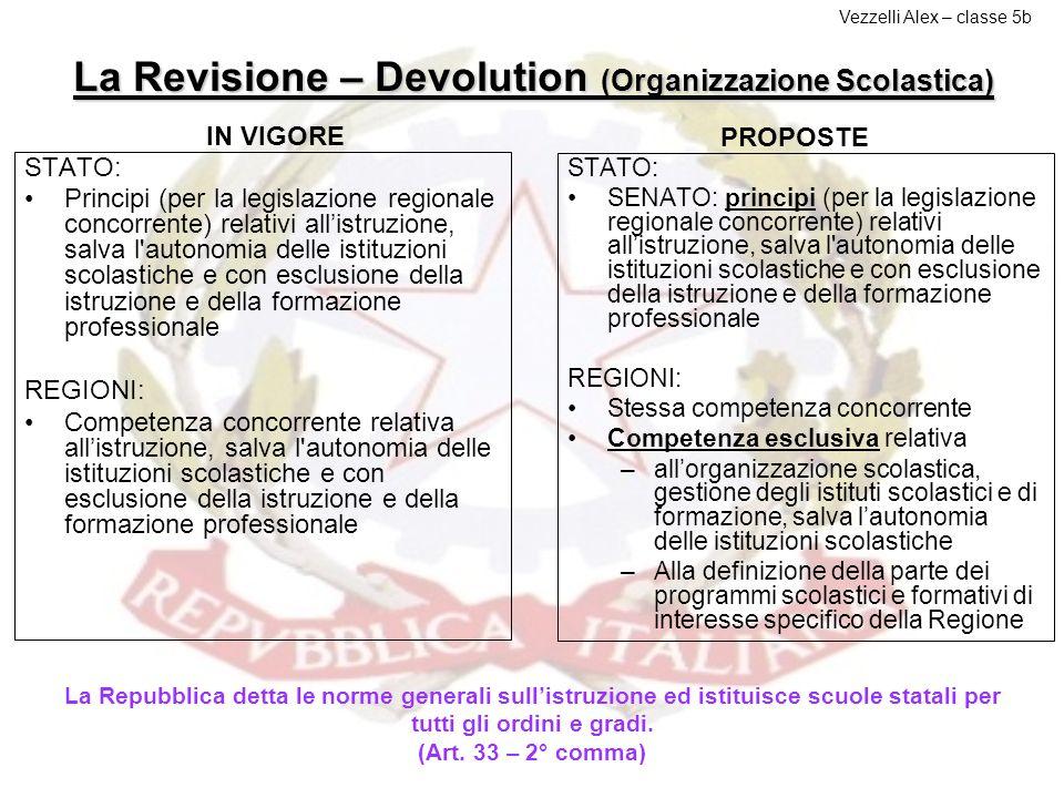 La Revisione – Devolution (Organizzazione Scolastica)