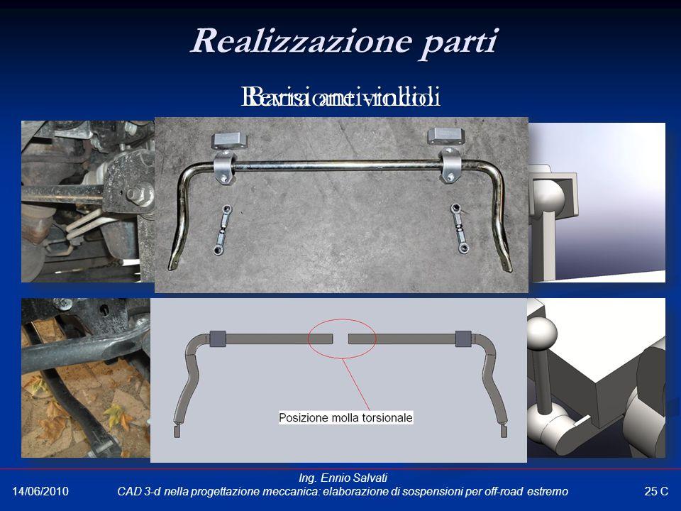 Realizzazione parti Barra anti-rollio Revisione vincoli