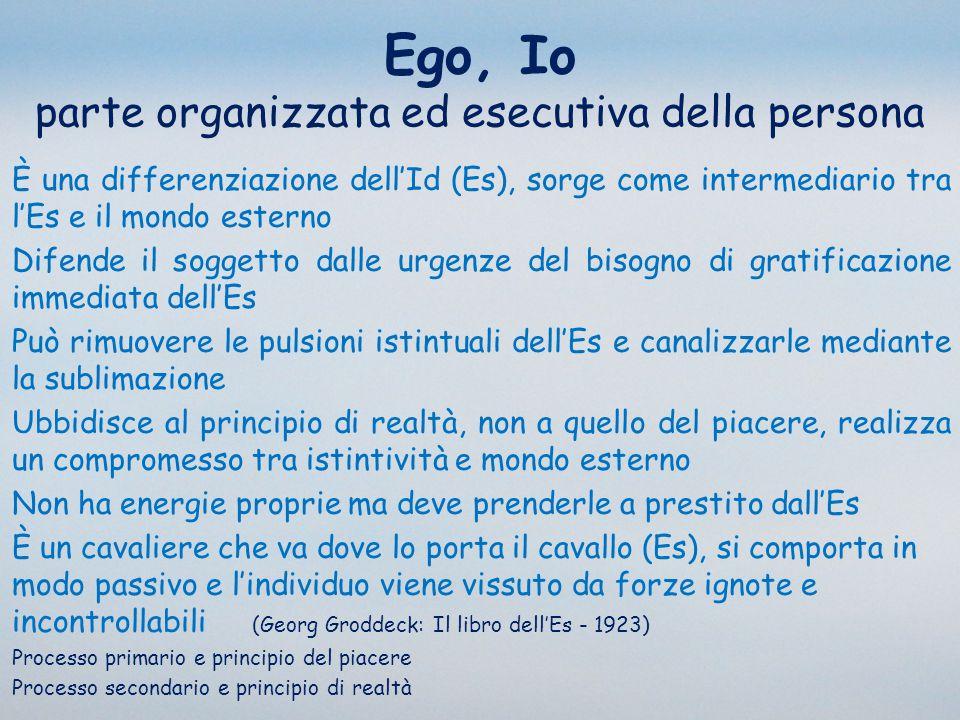 Ego, Io parte organizzata ed esecutiva della persona