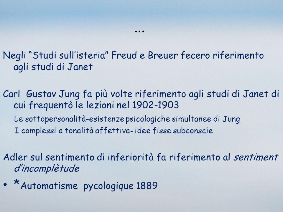 … *Automatisme pycologique 1889
