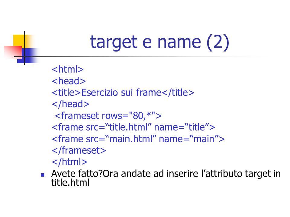 target e name (2) <html> <head>