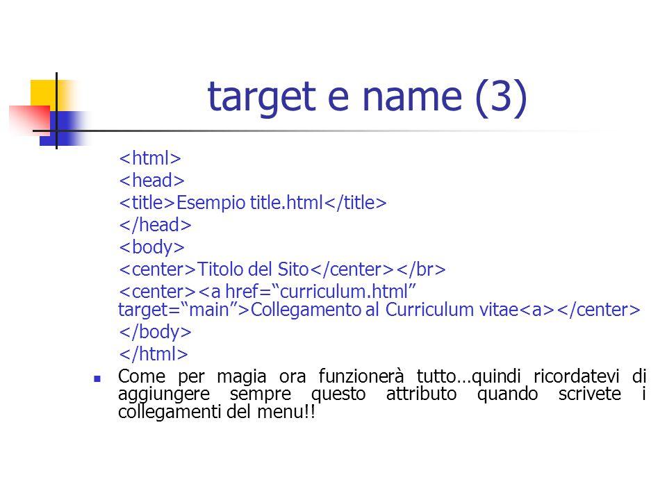 target e name (3) <html> <head>
