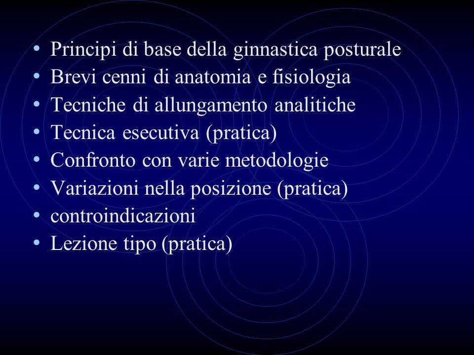 Principi di base della ginnastica posturale
