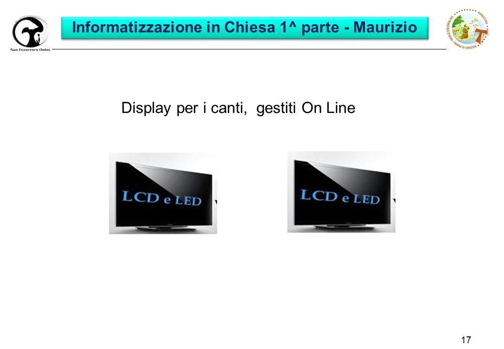 Informatizzazione in Chiesa 1^ parte - Maurizio