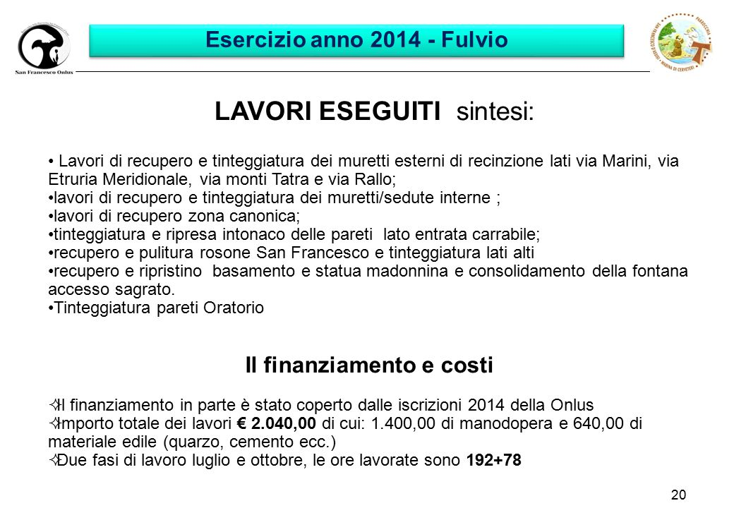 Esercizio anno 2014 - Fulvio