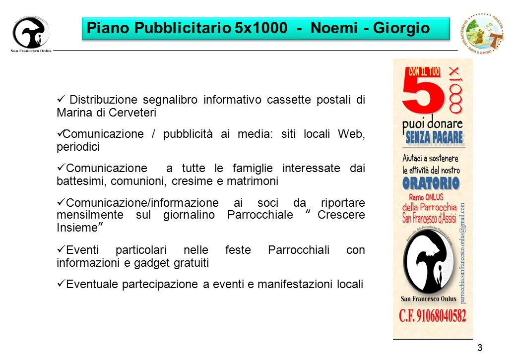 Piano Pubblicitario 5x1000 - Noemi - Giorgio