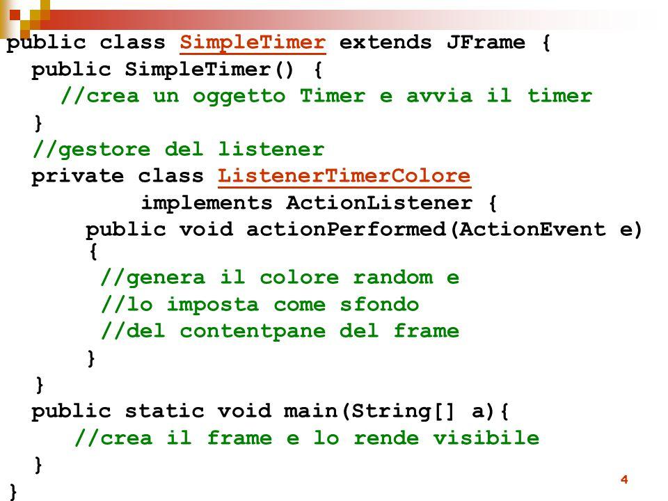 public class SimpleTimer extends JFrame {