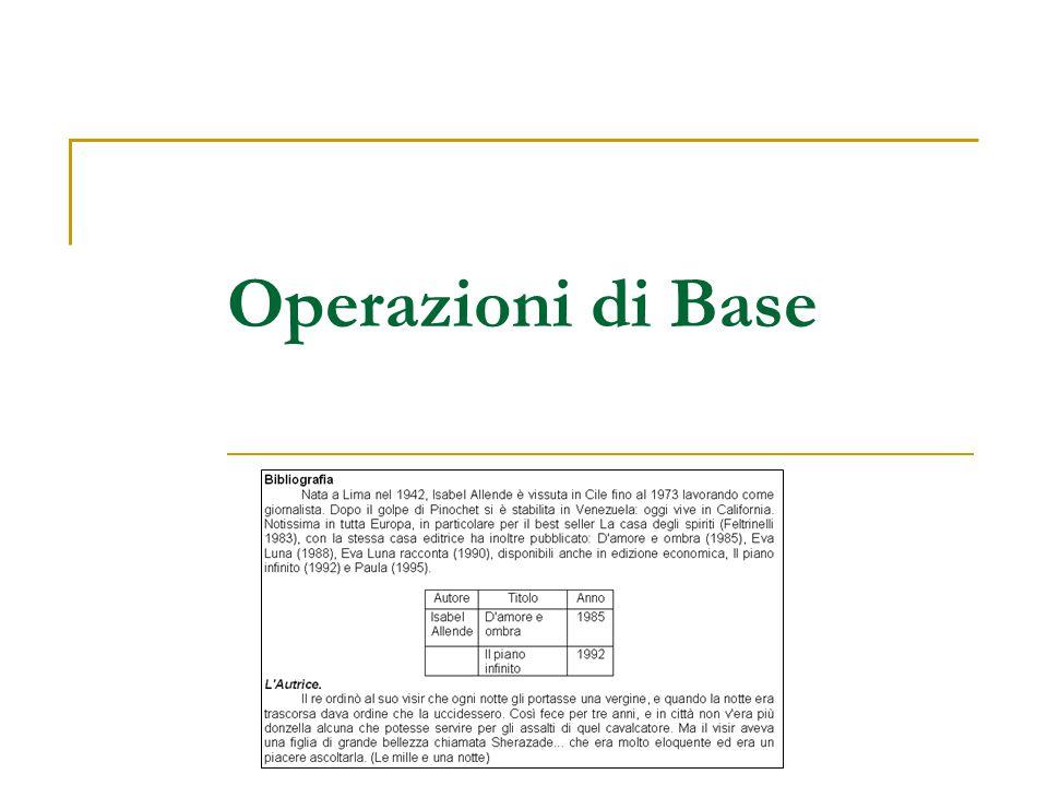 Operazioni di Base