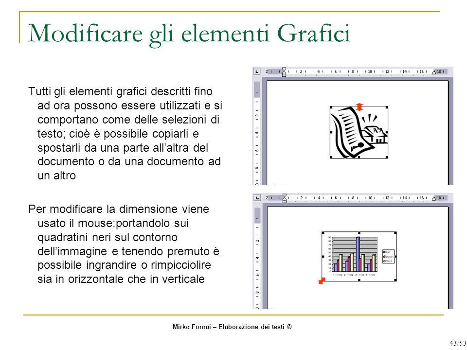 Modificare gli elementi Grafici