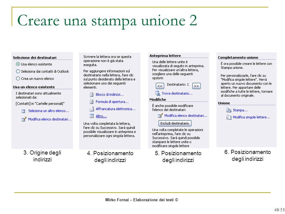 Creare una stampa unione 2